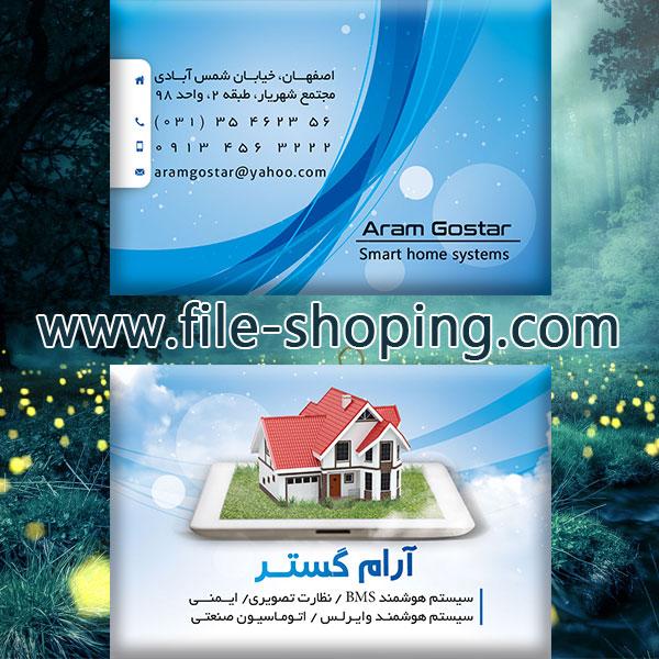کارت ویزیت لایه باز سیستم امنیت کد24پشت و رو