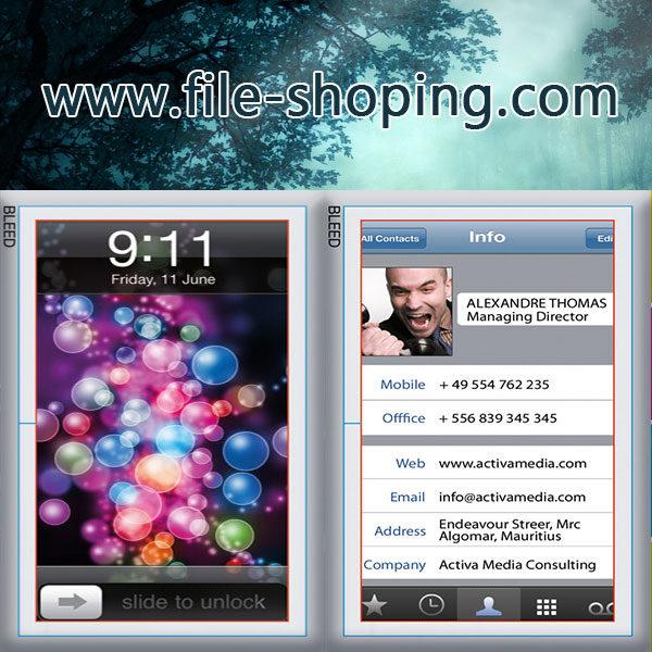 کارت ویزیت لایه باز موبایل کد5